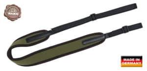 Gewehrriemen Jagdabsehen-NEOPREN grün mit Gurtband