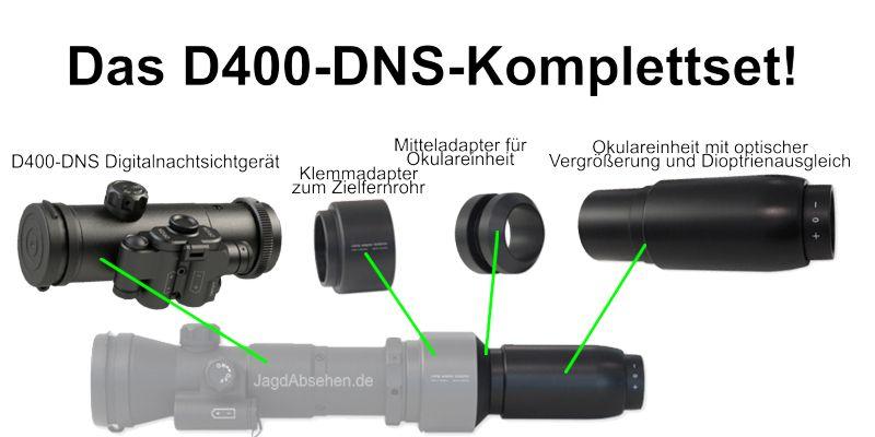 Digitales Nachtsicht Set mit D400DNS von Dipol